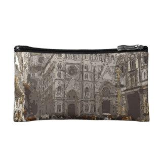 Edificios e iglesia de piedra rústicos en París
