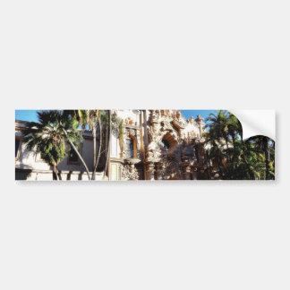 Edificios en el Prado en el parque San Diego del b Etiqueta De Parachoque