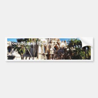 Edificios en el Prado en el parque San Diego del b Pegatina De Parachoque
