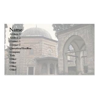 Edificios en estilo islámico plantilla de tarjeta de visita
