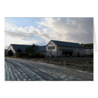 Edificios gastados, puerto holandés, Alaska Tarjeta De Felicitación