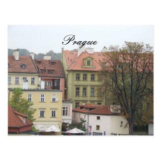Edificios hermosos de la República Checa de Praga Postal