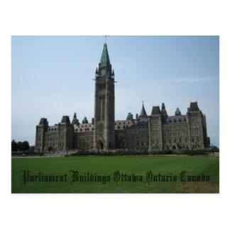 Edificios Ottawa Ontario Canadá del parlamento Tarjetas Postales