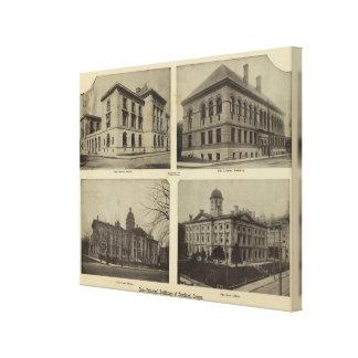 Edificios principales, Portland, Oregon Impresión En Lona