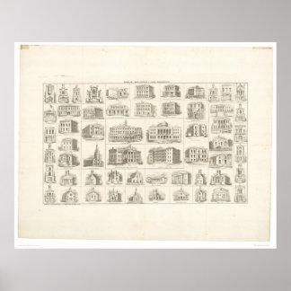 Edificios públicos de San Francisco (1372A) Posters
