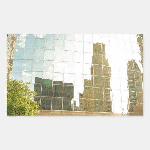 edificios rectangular pegatinas