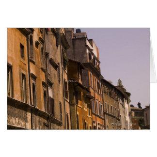 Edificios resistidos, Roma, Italia Tarjeta De Felicitación