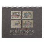 Edificios rústicos viejos calendario