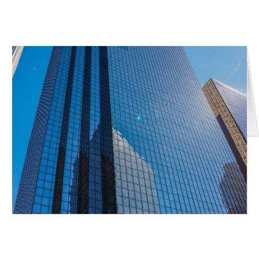 edificios tarjeta de felicitación