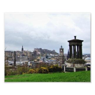 Edimburgo de la colina de Calton Arte Fotografico
