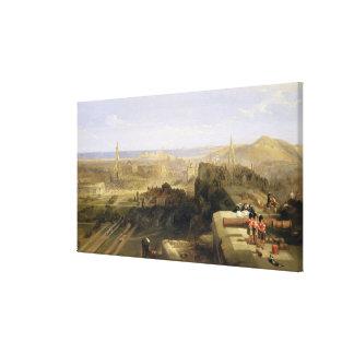 Edimburgo del castillo, 1847 (aceite en lona) lona envuelta para galerias
