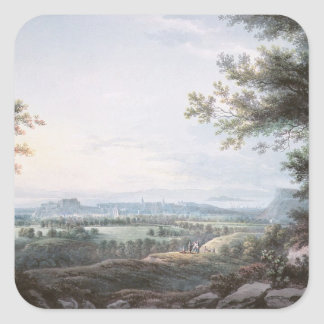 Edimburgo del sur, siglo XVIII Pegatina Cuadrada