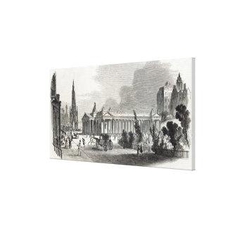 Edimburgo: Institución y Scott reales Impresiones En Lona