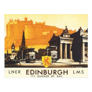 Edimburgo LNER multa el poster del viaje del Tarjetas Postales