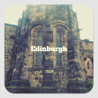 Edimburgo Pegatina Cuadrada