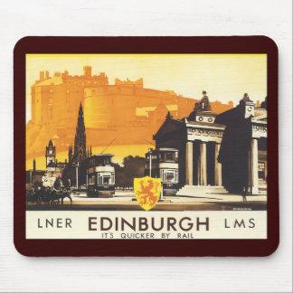 Edimburgo vía el poster del carril de LNER Tapetes De Raton