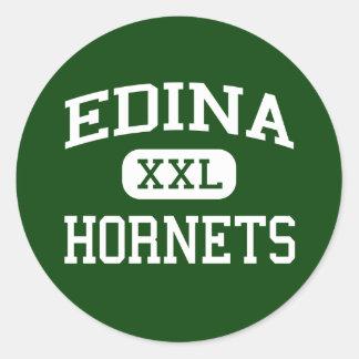 Edina - avispones - High School secundaria - Edina Pegatina Redonda