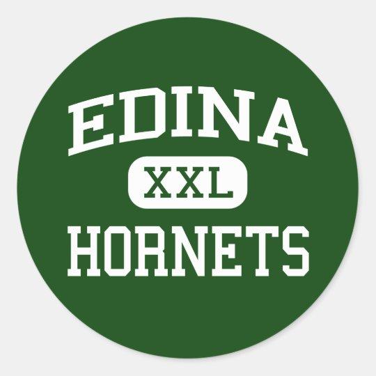 Edina - Hornets - High School - Edina Minnesota Classic Round Sticker