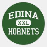 Edina - Hornets - High School - Edina Minnesota Round Stickers