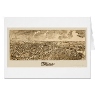 Edinboro, PA Panoramic Map - 1898 Card