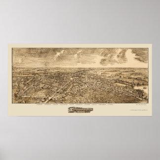 Edinboro, PA Panoramic Map - 1898 Poster