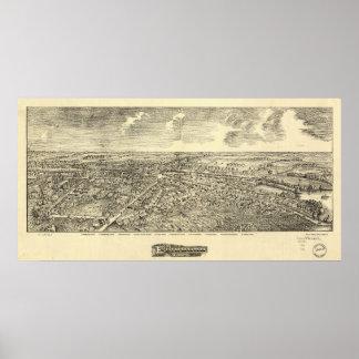 Edinboro Pennsylvania 1898 Antique Panoramic Map Poster