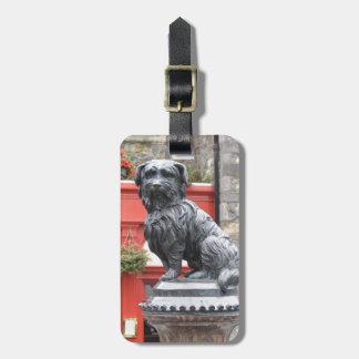 Edinburg, Scotland Cute Dog Statue Tags For Bags