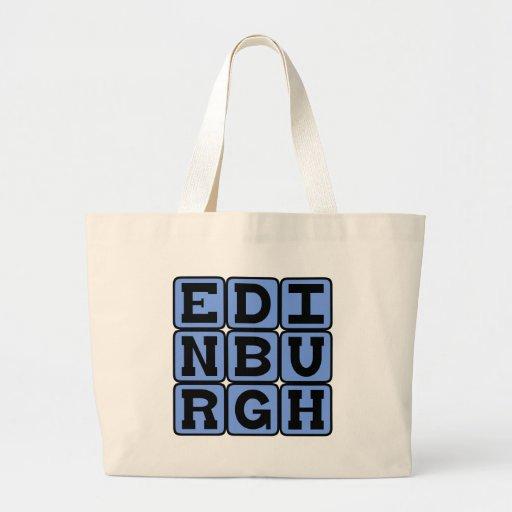 Edinburgh, Capital City of Scotland Tote Bags