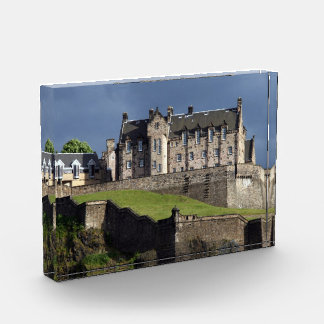 edinburgh castle acrylic award