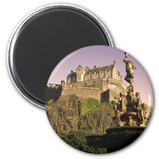 Edinburgh Castle at Sunset Magnet