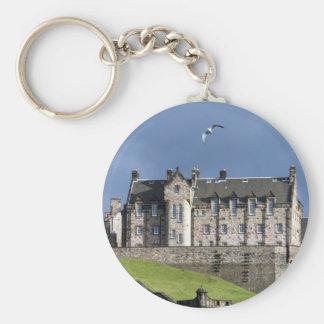 edinburgh castle bird keychain