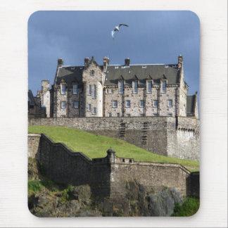 edinburgh castle bird mouse pad
