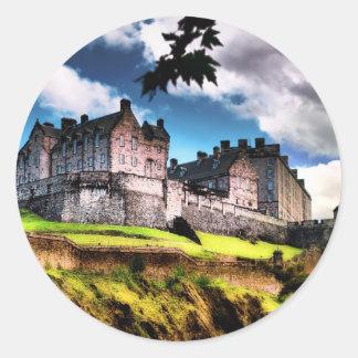 Edinburgh Castle Classic Round Sticker