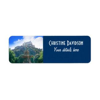 Edinburgh Castle Customize Product Label