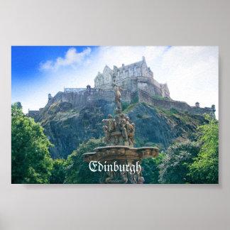 Edinburgh Castle Customize Product Poster