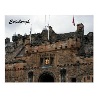 edinburgh castle entranceway postcard