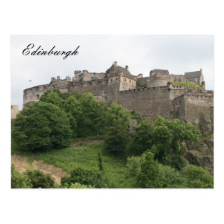 edinburgh castle far postcard