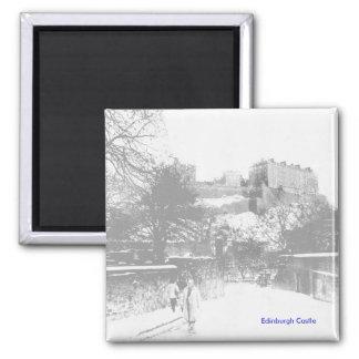 Edinburgh Castle from King Stables Road Refrigerator Magnet