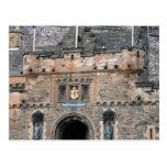 edinburgh castle gate detail postcard