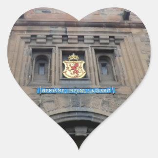 Edinburgh Castle Gatehouse Heart Sticker