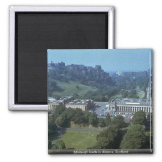 Edinburgh Castle in distance, Scotland Fridge Magnet