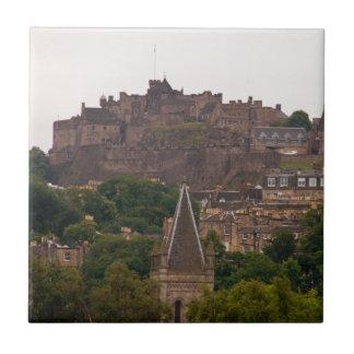 Edinburgh Castle in the Distance Ceramic Tile
