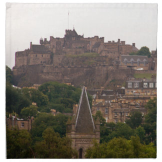 Edinburgh Castle in the Distance Napkin