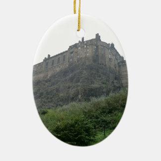 Edinburgh Castle in the Mist Ceramic Ornament