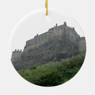 Edinburgh Castle in the Mist Double-Sided Ceramic Round Christmas Ornament