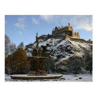 Edinburgh Castle in winter Postcard