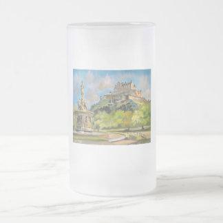 Edinburgh castle oil painting Gordon Bruce art Mug