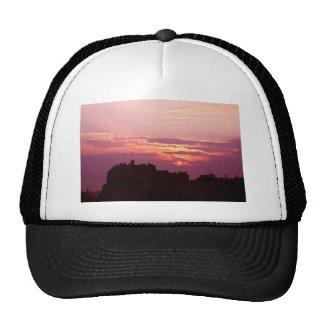 Edinburgh Castle Pink Dusk Trucker Hats