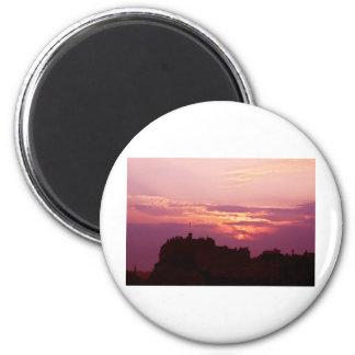 Edinburgh Castle Pink Dusk Magnet