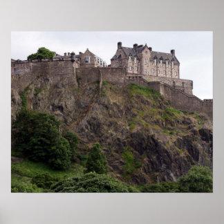 edinburgh castle rock poster